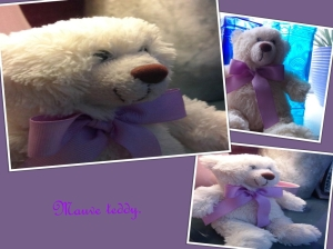 Mauve teddy with c